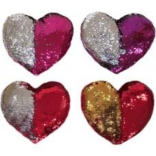 Dekoratyvinė širdelės formos pagalvė su blizgučiais