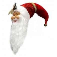 Kalėdinė dekoracija - minkšta Kalėdų Senelio galva