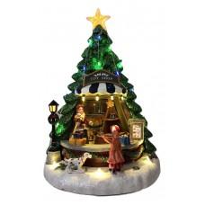 Kalėdinė dekoracija - dovanų parduotuvė eglutėje