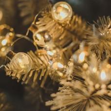 Stiklinių lempučių girlianda