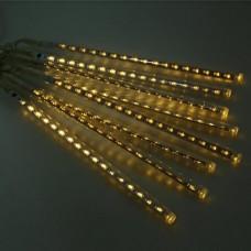 LED girlianda Meteorų lietus, šiltai balta