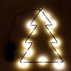 Kalėdinė dekoracija - eglutė su LED lemputėmis