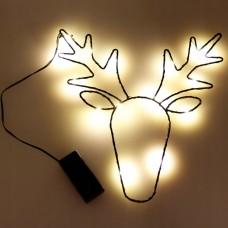 Kalėdinė dekoracija - elnias su LED lemputėmis