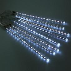 LED girlianda Meteorų lietus, šaltai balta