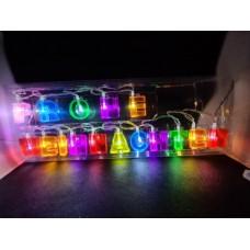 """LED užrašas """"Frohe Weihnachten"""""""