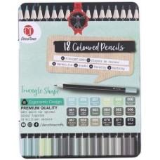 Pieštukų rinkinys -  žalios spalvos atspalviai