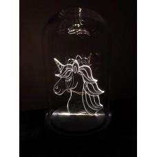 Naktinė  LED lempa - dekoracija su vienaragiu